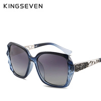KINGSEVEN Sunglasses Women Gradient Polarized Diamond Frame Sun Glasses For Driving Luxury Lady Shades Eyewear Accessories