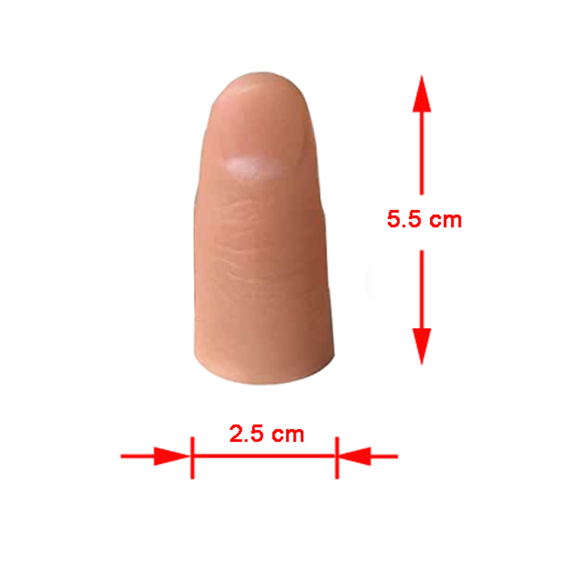 1pcs Large Size Simulation Magic Thumb Tip Soft Fake Finger Magic Tricks Magic Props For Magician Gimmick Easy To Do Magic