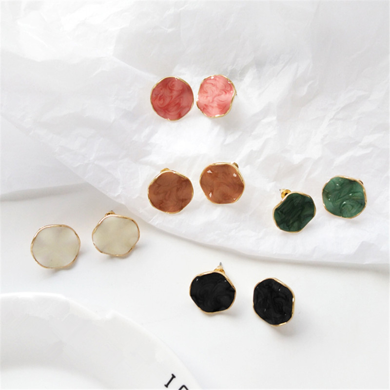 Fashion Geometric Stud Earrings Female Irregular Shape Retro Earrings 2019 Classic Lady Big Earrings For Women Jewelry