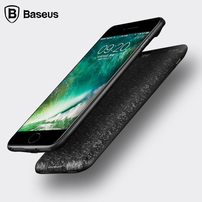 imágenes para De BASEUS Caja de Batería Para el iphone 6 S Plus Caja de Batería Power Bank cubierta Paquete de Reserva Externo Para el iphone 7 Más Caso Del Cargador de Batería
