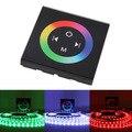 Сенсорная панель RGB контроллер черный 86 стеклянный настенный светодиодный контроллер Диммер DC12V DC 24V для светодиодной ленты светового синег...