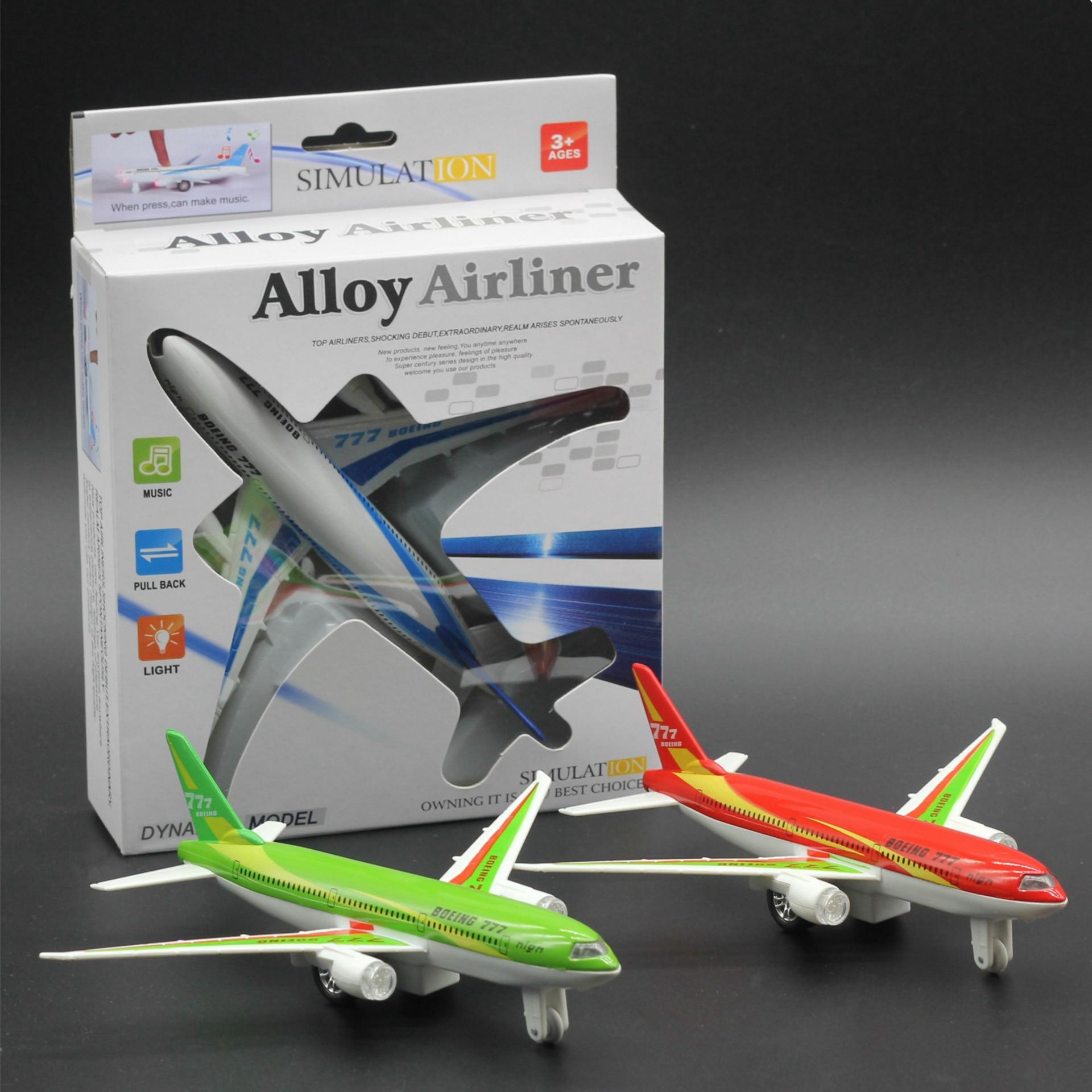Kinderspeelgoed, Legering modelvliegtuig, Boeing 777 airbus, Trek vliegtuig, Children's educatief model speelgoed. Vliegtuig