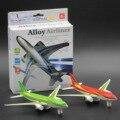 Juguetes para niños, juguetes de Aleación modelo de avión, Boeing airbus 777, Tire Hacia Atrás del avión, modelo educativo de Los Niños juguetes. Avión