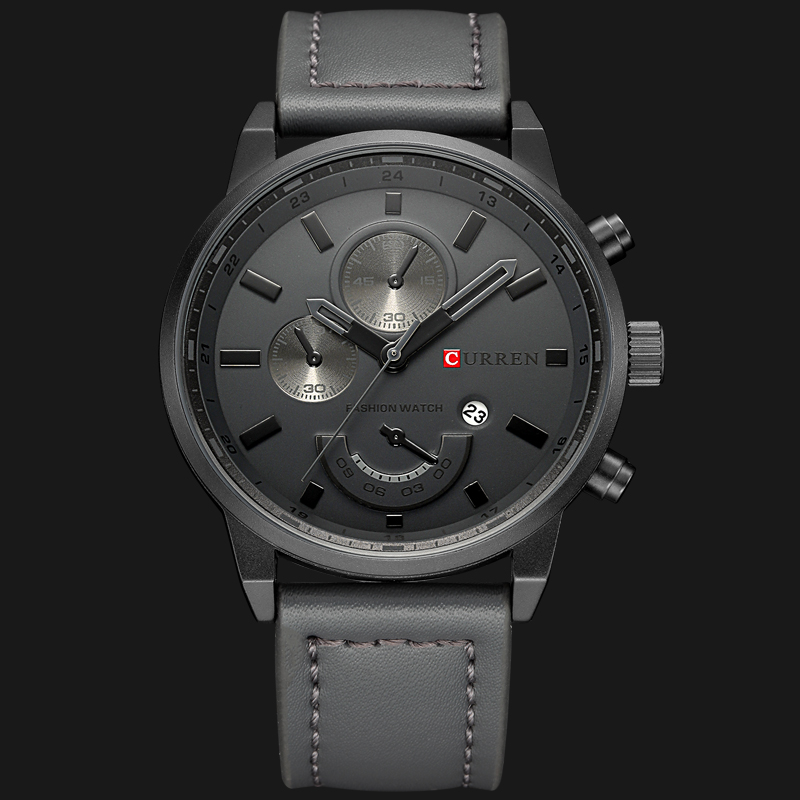 Luxury Brand CURREN Men's Watch Military Quartz Analog Sport Wristwatch Leather Mens Watch Male Clock With Date Relogio Homem