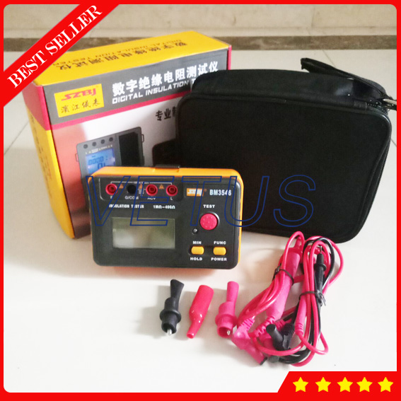 BM3546 2500V Digital Megger Insulation Tester as907a digital insulation tester megger with voltage range 500v 1000v 2500v