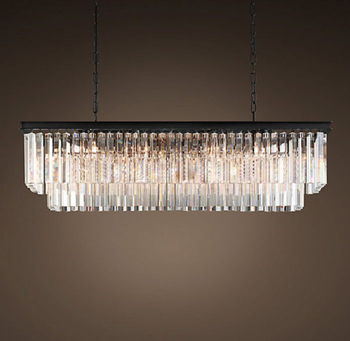 T 2016 New Large E14 Led Crystal Luxury Rectangular