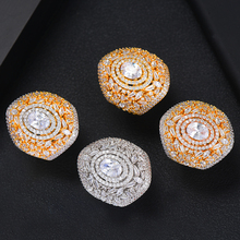 SISCATHY 2019 Fashion Jewelry Hot Romantic Charms Wide CZ Rings for Women Noble Symbol Birthday Anniversary Party Wedding