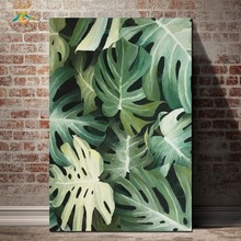 Green Monstera Painting Wall Art Canvas Posters and Prints Nordic Home Decoration for Living Room