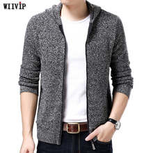 Brand New Men Winter Autumen Cardigan Men Wool Cotton Mens Hooded Sweaters Man's Knitwear Clothes Quality Sweatercoats yw112