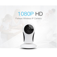 Home Camera 720P HD Mini IP Camera WiFi Smart Wireless Infrared Security Camera 185Degree Wide Angle