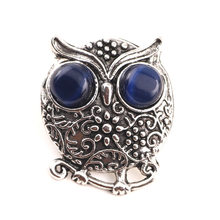 I Watch U Owl Snap Button Fit 18 mm Button Bracelets Excited Quality For Wedding Jewelry Wholesale(China)