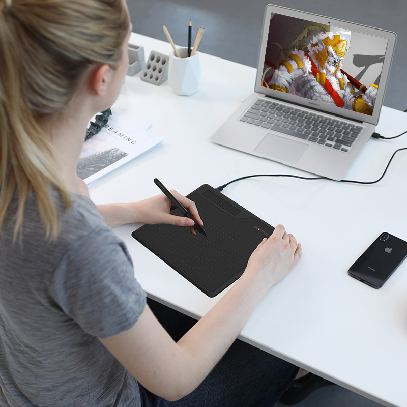 Image 5 - GAOMON S620 6,5x4 дюйма Цифровая ручка планшет аниме графический  планшет для рисования и игр OSU с 8192 уровнями ручка без батареи-in  Цифровой планшеты from Компьютеры и офисная техника on AliExpress