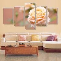 5 Stuks Geel rozen woondecoratie canvas canvas wanddecoratie foto-in de wereld van olieverf