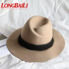 2014 winter wide brim fashion wool felt fedora hats for women, ladies chapeau hats, vintage floppy hat, free shipping