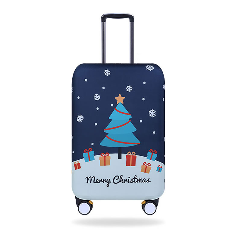 Fashion Travel Chrismas Red Luggage Suitcase Protector Washable Baggage Covers