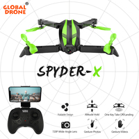 Global Drone SPYDER X Quadrocopter Dron RC Helicopter WIFI FPV Foldable Quadcopter Selfie Drones with Camera HD Mini Drone X Pro