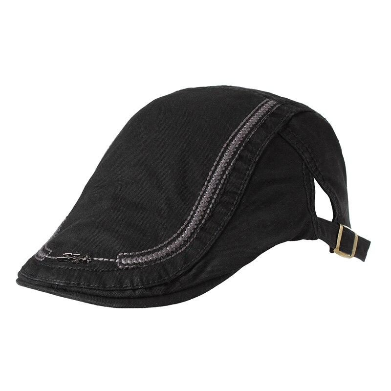 New all seasons cotton men Beret hat fashion Cotton designer sun Peaked beret Cap for women embroidery cap