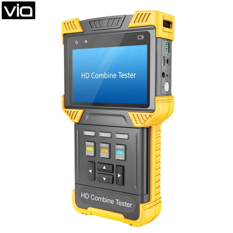 Dt-t62-cvi Direkt Fabrik Cctv Tester Ahd + Ipc + Tdr + Poe + Analog Kamera Tester 4,0-zoll Handheld Multi-funktion Sicherheit Extrem Effizient In Der WäRmeerhaltung