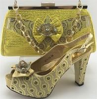 العصرية سيدة أحدث تصاميم الأحذية الإيطالية مطابقة الحذاء و حقيبة حقيبة ل نيجيريا الزفاف في جودة عالية