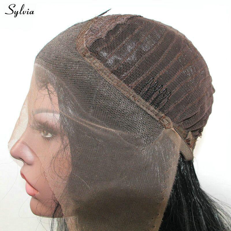 Sylvia Glueless Lange Geflochtene Perücken Platin/Blonde Perücke Synthetische Spitze Vorne Perücken Frauen Hohe Temperatur Faser Perücke Für Dame party - 5