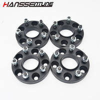 """HANSSENTUNE 4PCS 5x114.3(5x4.5"""") 67.1CB 25mm Forged Aluminum Alloy Wheel Adapters Spacers for EVO Genesis Tucson Optima
