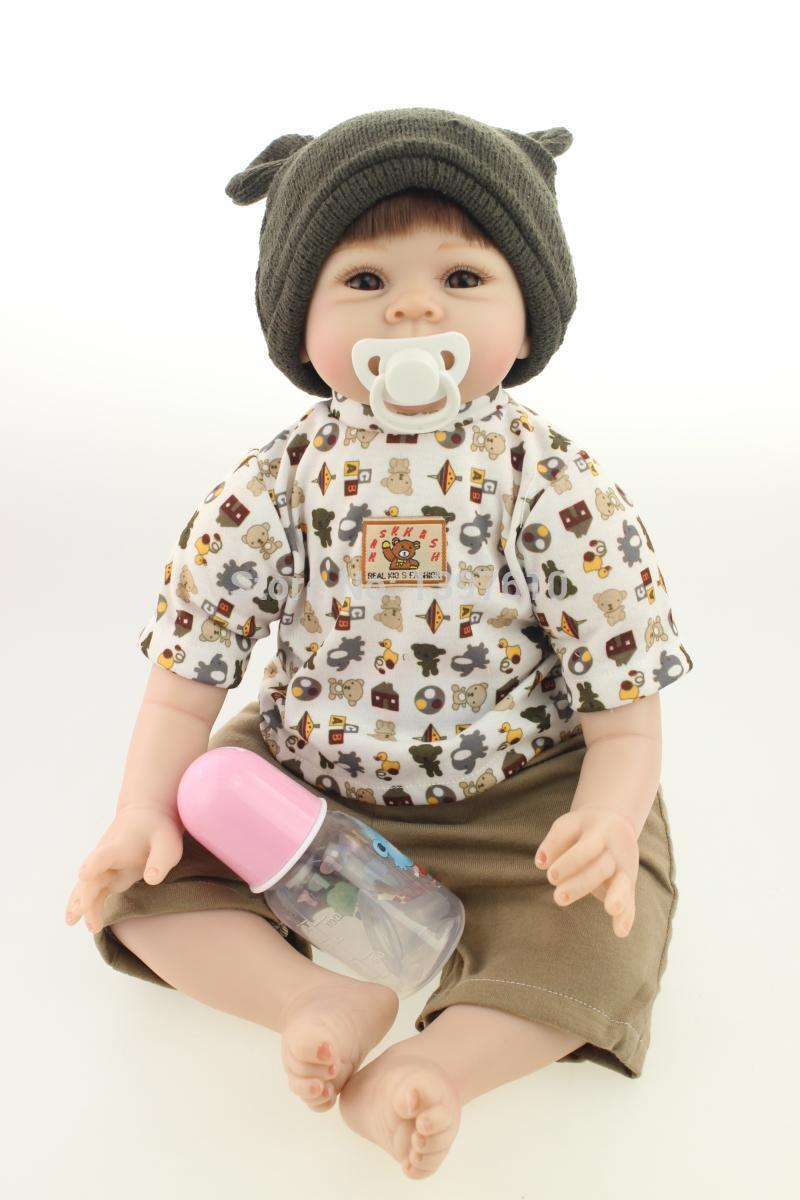 Soft Silicone 22 Inch Reborn Babies Doll Handmade Baby