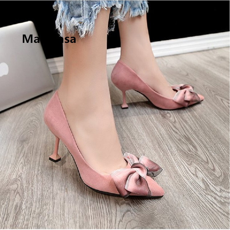 Frauen High Heels Women Cute Pink Comfortable High Quality Spring Slip On High Heel Shoes Lady Casual Red High Heel Pumps G2627