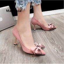 Frauen High Heels Women Cute Pink Comfortable High Quality Spring Slip on High