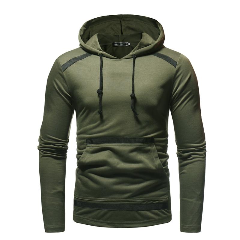 2018 Male Tops Brand Male casual Hooded Hoodie Sweatshirt Men 39 s Slim fit solid color Men 39 s autumn hoodie Sportswear EU size 3XL in Hoodies amp Sweatshirts from Men 39 s Clothing
