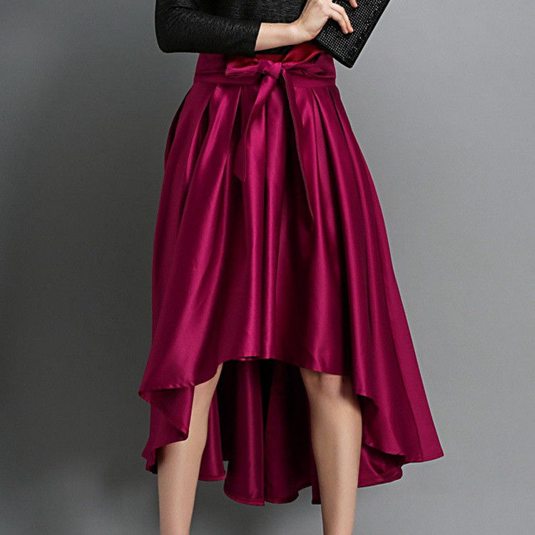 f429d7156d Women's Irregular Dovetail Bow Skirts Long Skirt Fashion Half length Front  Short Back Long Skirts w/ Black/ Red-in Skirts from Women's Clothing on ...