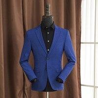 Sonbahar Erkek Casual Blazers Moda Erkek Iş Takım Elbise Ceket Artı Boyutu M-4Xl İnce Katı Renk Erkekler Blazer A5111