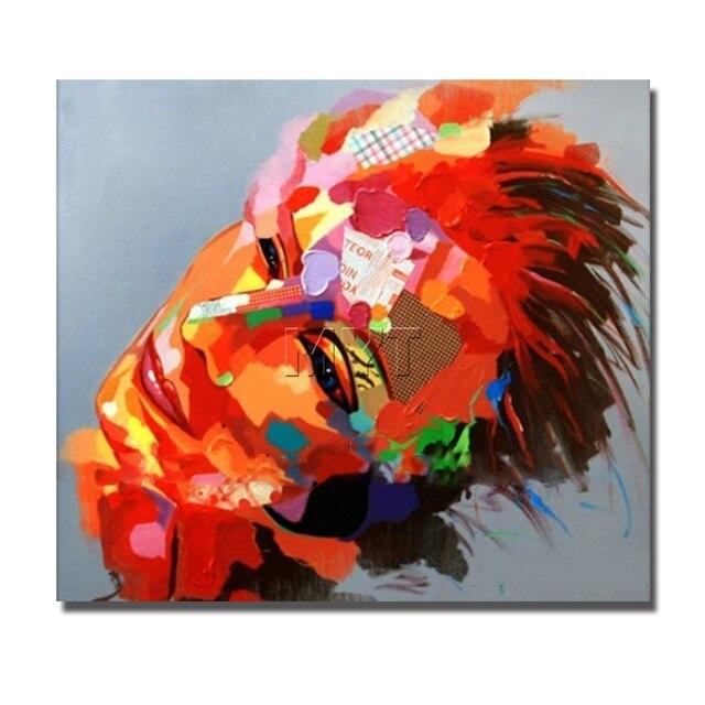 Souvent Couteau portrait peinture à l'huile abstraite visages rouge  DP86