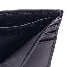Designer For Men Business Sheepskin Leather Long Wallets Weave Handmade High Quality Genuine Leather Wallet Business Wallets Bag