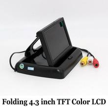 Складной 4.3 Дюймов Цветной tft LCD HD Экран Монитора Автомобиля Датчик Парковки Видео Монитор Заднего Вида Автомобиля Резервного Копирования для Камера Заднего вида