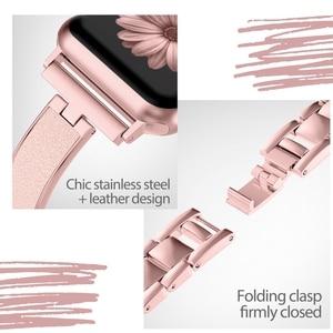 Image 4 - Voor Apple Horloge Band 40Mm 44Mm Serie 5 Slim Vervanging Armband Sieraden Vrouwen Voor Iwatch Serie 4 3 2 1 38Mm 42Mm