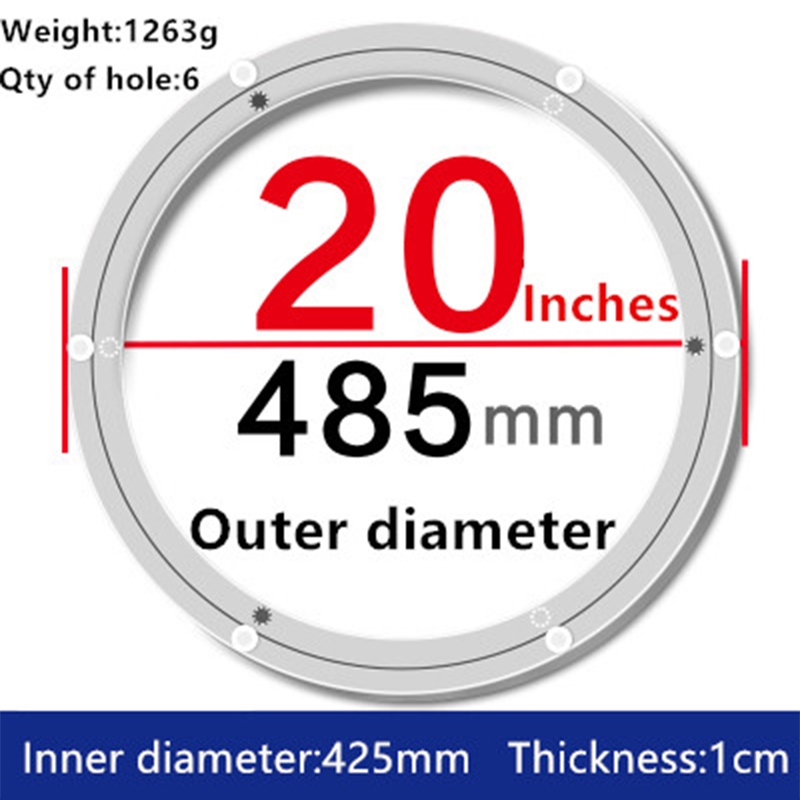 1pc 20 inches 48.5cm Big Lazy Susan Turntable Dining Table Aluminium Alloy Swivel Plate for Kitchen Furniture hq classic 40 inch 990mm od muted and smooth aluminium alloy lazy susan turntable swivel plate for big dining table