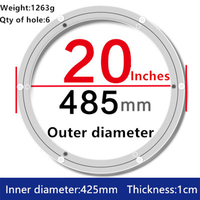 1pc 20 inches 48.5cm Big Lazy Susan Turntable Dining Table Aluminium Alloy Swivel Plate for Kitchen Furniture