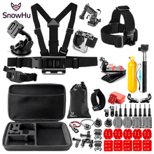 SnowHu for Gopro Hero 6 5 Accessories Set Large Collection Box Monopod hero 7 SJCAM yi 4k Sport Camera SH91V