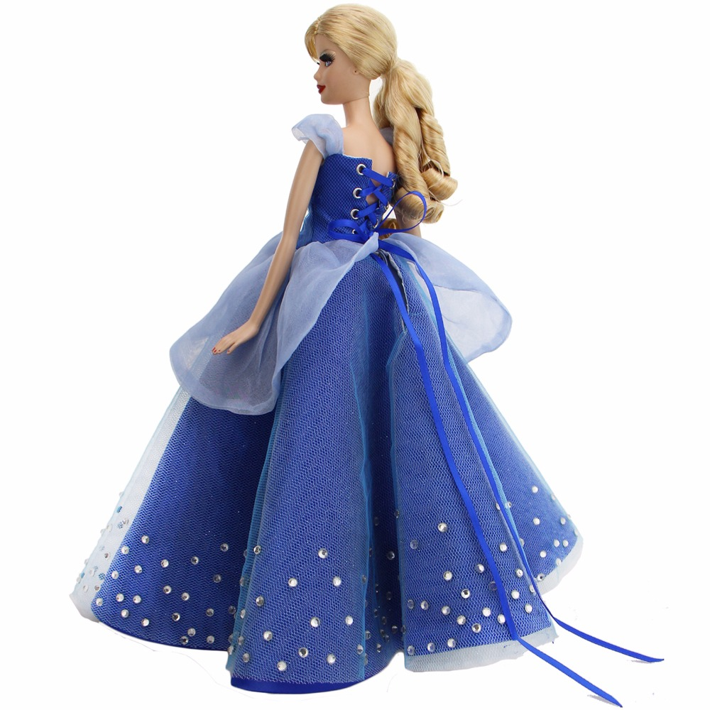1 Pcs High Quality Fairy Tale Dress Copy Cinderella Princess Gown Party Wear Clothes For Barbie Doll FR Doll Accessories Gifts