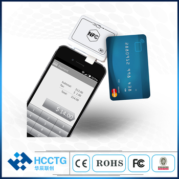 Mini Credit Payment Bluetooh Contact Chip+Magnetic+Contactless NFC Audio Jack MSR With IC Magnetic NFC Bank Card Reader