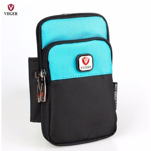 Mens Travel Waist Bag Fanny Pack Waist Pack Hip Purse Bum Bag Belt Bag Smartphone Bag Cell Phone Pouch w/ Belt Loop for iPhone 7