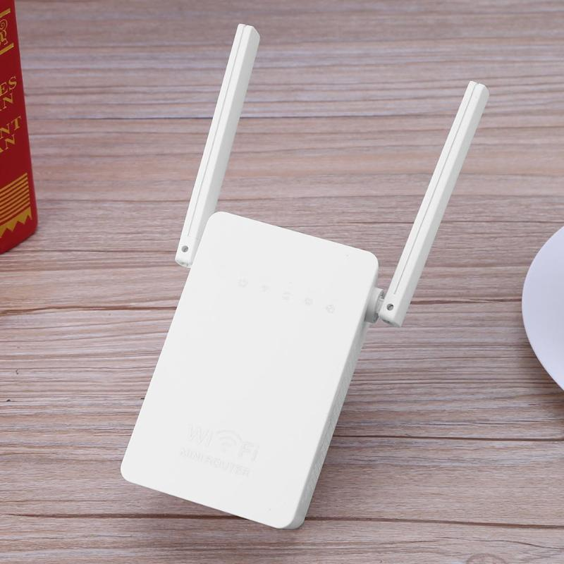 300Mbps Wireless Network Router Wi-Fi Signal Range Extender WiFi Repeater Signal Booster Network Router with Dual Antennas