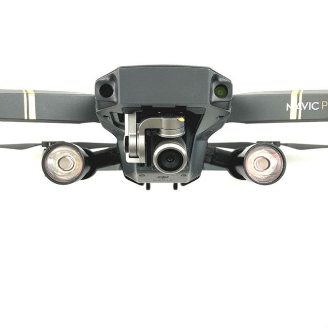 Mavic Pro Flaş LED Gece Dolgu Işığı Projektör lamba kiti için DJI Mavic Pro rc dört pervaneli helikopter Ile 4 K HD Kamera Drone aksesuarları