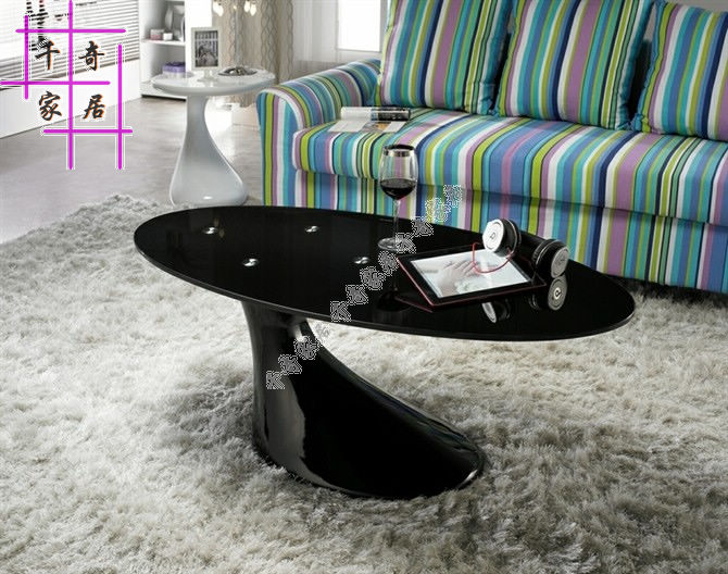 Toughened glass tea table. The individuality creative tea table. Fashion oval table concept of vortex female student individuality creative watch han edition contracted fashion female table