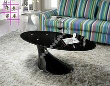 Закаленное стекло, чайный столик. индивидуальность творческая чайный столик. мода овальный стол
