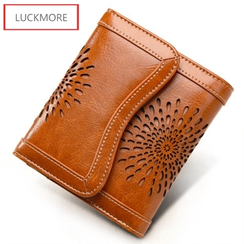2016 Wallet Women Hollow Out Cowhide Zipper Female Clutch Card Holder Real Leather Cowhide Wallets Coin Purse Free Shipping фото