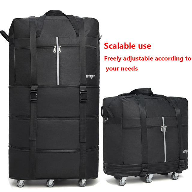158 air consignment baggage large-capacity study abroad suitcase aircraft consignment Cardan wheel folding baggage 1