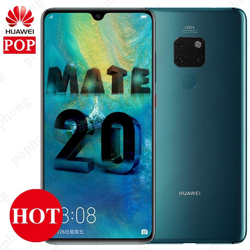 Global Version Optional Huawei Mate 20 mobile phone 6.53 inch Kirin 980 Octa Core Fingerprint 4000mAh Charger 4*Camera NFC-in Cellphones from Cellphones & Telecommunications    1