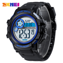 SKMEI 2019 Men's Sport Watches Dual Time 50M Waterproof Chronograph LED Digital Watches Men Wristwatches Relogio Masculino 1387 цены