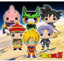 Funko POP Dragon Ball Goku Vegeta God Dolls Anime Action Figure Super Saiyan Model Cute Cartoon